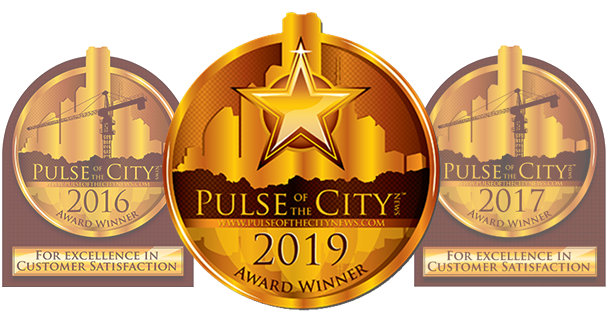 Picture of the 2019 Pulse of the City Award handed out to SanCap Gateway Realty for excellence in customer service.
