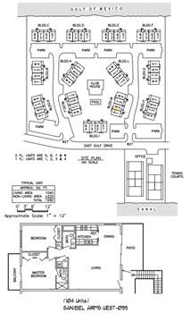 Sanibel Arms West Condo floorplan